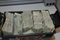 These one-hundred dollar bills were taken in an unrelated bank heist.(FBI)