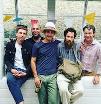 Gregory Ruppe (left) of the Power Station, Mexico's Jose Noe Suro and artist Gabriel Rico, Dallas artist Jeff Gibbons and the Power Station's Alden Pinnell at Ceramica Suro in Guadalajara, Mexico(Alden Pinnell)