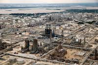 Irving-based Exxon Mobil Corp. operates the second-largest refinery in the U.S. in Baytown, Texas. It was among the coastal refineries that shut down during Hurricane Harvey. (Tom Fox/Staff Photographer)
