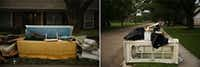 Furniture and carpet were a common sight in the neighborhood, where front lawns resembled junkyards a week after Harvey.(Andy Jacobsohn/Staff Photographer)