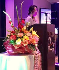 Mira Im performed at the Greater Dallas Korean American Chamber banquet at the Omni Park West in Dallas.(Deborah Fleck/Staff )