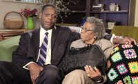 When he was Dallas County district attorney, Craig Watkins, with his grandmother, did a public service announcement on the prevention of abuse of the elderly.(Dallas County DA's office)