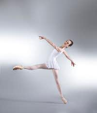 Avant Chamber Ballet company member Emily Dixon, in a moment from George Balanchine's <i>Concerto Barocco</i>.(Rhilee Photography)