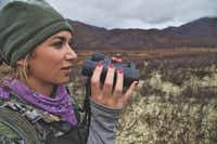 Eva Shockey looks for moose while hunting in the Yukon.(Dan Goodenow photo from Eve Shockey)