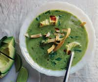 Leaf and Stem Green Tortilla Soup from 'The First Mess Cookbook'