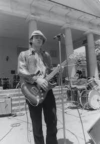 Stevie Ray Vaughan performed at a free Freddie King memorial concert in Lee Park in 1980.(© Kirby Warnock)