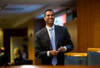 Since becoming chairman in January, Ajit Pai has been on a deregulatory blitz.(Eric Thayer/The New York Times)