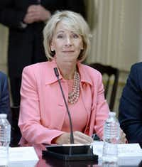 Education Secretary Betsy DeVos.(Olivier Douliery/TNS)