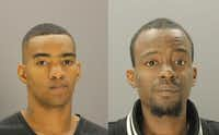 Kenneth Henderson (left) and Charleston Jackson pleaded guilty to lesser robbery charges in an October 2015 slaying.(Dallas County Jail)