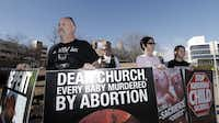 Protesters from Abolish Human Abortion, participate in a rally in January, 2014. (2014 File Photo)