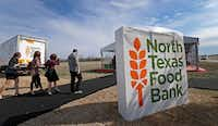 The North Texas Food Bank will distribute food packaged Sunday to some of its partner agencies.(File photo/Jae S. Lee)