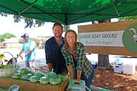 Zachariah Smith and fiancee  Molly Andrews have just started growing their microgreens and baby salad greens using organic methods in Ables Spring (Kaufman County) as Urban Goat Greens. (Kim Pierce)