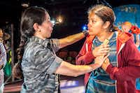 "<p>Stephanie Cleghorn Jasso (left) performs a scene with Mindamora Rocha  in <i>so go the ghosts of méxico, </i><span style=""font-size: 1em;""><i> part two</i>,</span>  by Matthew Paul Olmos, at the Undermain Theatre.</p>(Ron Heflin/Special Contributor)"