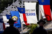 Mounted Dallas police officers patrol the State Fair of Texas.(2015 File Photo/Smiley N. Pool)