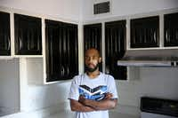 "<p><span style=""font-size: 1em; background-color: transparent;"">Robin Bobo stands in the kitchen of his Richardson condo, which he was able to afford with the help of a Section 8 housing voucher. He said he painted the cabinets himself before he had to move out this summer.&nbsp;</span></p>(Andy Jacobsohn/Staff Photographer)"