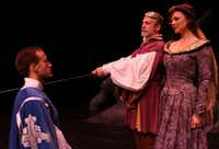 Jay Dias was honored by the Dallas-Fort Worth Theater Critics Forum for outstanding design or creative contribution for his music direction of <i>Camelot </i>for Lyric Stage at the Irving Arts Center in Irving. The show featured Christopher J. Deaton as Lancelot, J. Brent Alford as King Arthur and Kristen Beth Williams as Guinevere.(Lyric Stage)