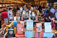 About 300 people crammed into Interabang Books in Dallas for its the grand opening Monday.(Ben Torres/Special Contributor)