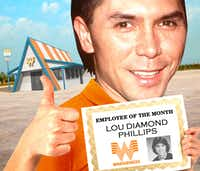 Lou Diamond Phillips, Whataburger employee of the month sometime in the late 1970s.(Michael Hogue)