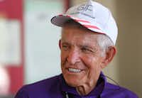 """Jim """"Mattress Mack"""" McIngvale, locally famous for philanthropy and his commercials for his business, Gallery Furniture, is pictured at the store in north Houston on Monday, September 11, 2017. (Louis DeLuca/The Dallas Morning News)"""