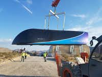 This file photo taken on July 12, 2017 and released by Hyperloop One shows the first Prototype of Hyperloop One Pod on July 12, 2017. .  / AFP PHOTO(AFP/Getty Images)