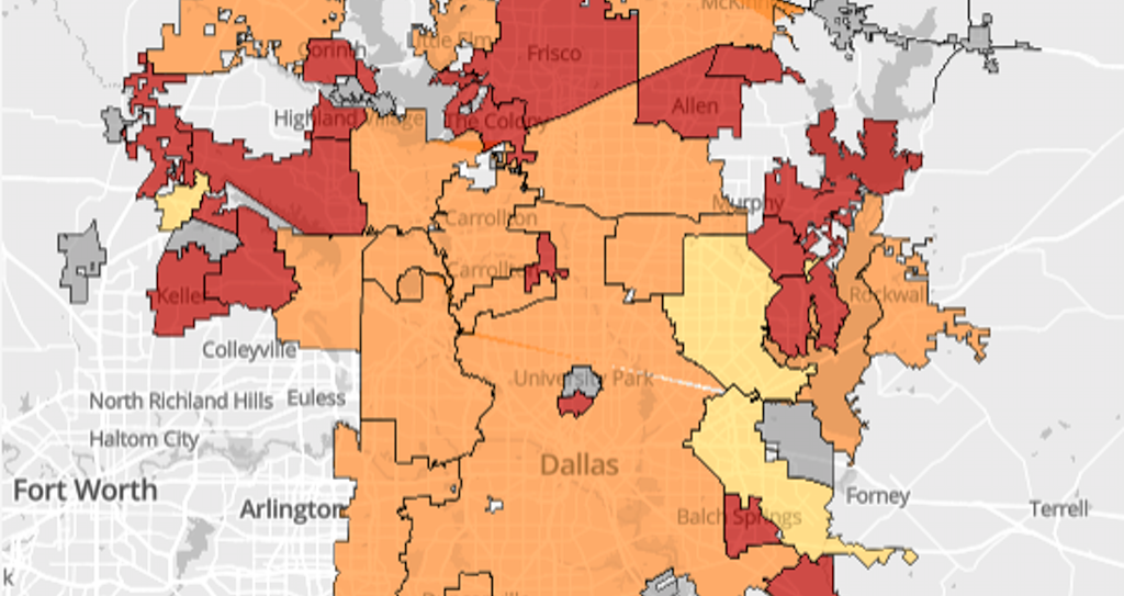 North Texas Cities Where Landlords Wont Rent To Poor Families - Map north texas cities