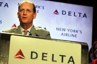 <p>Former Delta CEO Richard Anderson wants to exploit what he sees as airlines' shortcomings in his new role at Amtrak. Among them: free Wi-Fi, no middle seats, two checked bags for free. </p>(Spencer Platt/Getty Images)