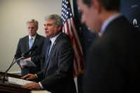 Rep. Michael McCaul  (center), R-Austin, will be part of the informal working group of Republicans charged with finding a solution for Dreamers.(Alex Wong/Getty Images)