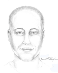 Arlington police released this sketch of a person of interest sought in connection with the shooting.<br>(<br>/Arlington Police Department<br>)