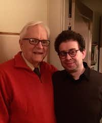 Architect Frank Welch with Dallas Morning News architecture critic Mark Lamster on Feb. 16, 2016.(Mark Lamster/Courtesy of Mark Lamster)