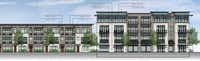 A combination of rental townhouses and apartments are planned around the lake.(City of Farmers Branch)