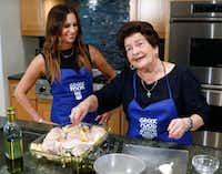 Christina Zarras prepares classic Greek Chicken and Potatoes with her granddaughter, Christina Moros.(David Woo/Staff Photographer)