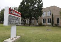Robert E. Lee Elementary School, located at 2911 Delmar Ave. in Dallas, is one of four Dallas ISD schools that could have its name changed.(2014 File Photo/Louis DeLuca)
