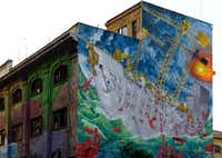Street art by Blu in Rome.(Rita Restifo/Special Contributor)