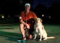 "<p>Dr. Alan Johns, with his dog, Zoe, says: ""<span style=""font-size: 1em; background-color: transparent;"">There is no better stress reducer than exercise.""</span></p>(David Woo/Staff Photographer)"