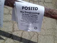 This notice was left at Joel Potasznik's front gate.(Joel Potasznik)