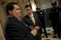 A spokesman for Corpus Christi Rep. Blake Farenthold (left), said the congressman had no qualms about using campaign funds to pay for a fundraising dinner at Trump hotel's BLT Prime. (Michael Temchine/Special Contributor)