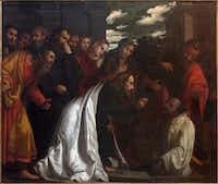 The painting of Resurrection of Lazarus in church Chiesa di San Giovanni Evangelista by Girolamo Romani - Romanino (1484 - 1559).(/Getty Images)