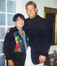 Troy Aikman at Henryetta (Okla.) High School with typing teacher Jean Froman.(Courtesy Troy Aikman)