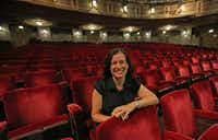 Jennifer Scripps is the director of the city's Office of Cultural Affairs, and the architect of the city's Cultural Plan. She is pictured at the Majestic Theatre in Dallas on Sept. 21.(Louis DeLuca/Staff Photographer)
