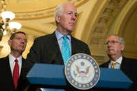 "Sen. John Cornyn has described the Graham-Cassidy bill as Republicans' ""last best hope"" for undoing Obamacare.(File Photo/The New York Times)"