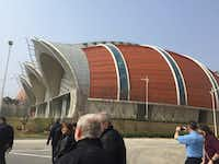 The newly opened wine production center from Changyu Pioneer Wine Company resembles a series of barrels on their sides. Based in the city of Yantai, the company intends to develop the northern China region into an internationally known wine city.(Kathy Chin Leong/Special Contributor)