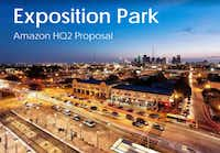 This is the cover of a proposal from Madison Partners to the city of Dallas pitching the area just outside Fair Park to Amazon.(Madison Partners)
