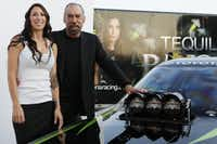 John Paul DeJoria's daughter, Alexis, is a funny car racer. They are shown together at a Patron tequila party in Dallas in 2011. (Ron Heflin/Special Contributor)