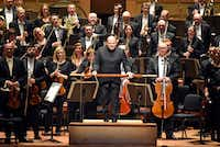 Dallas Symphony Orchestra conductor Jaap van Zweden walks on stage before a performance with the symphony on Sept. 14, 2017.(Ben Torres/Special Contributor)