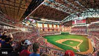 A look at the interior seating arrangement at the new Globe Life Field, which will become the new home of the Texas Rangers in 2020.(HKS, Inc.)