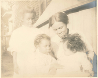 <br>(Annie Mae Turner with the Turner children. )