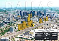 The cover of a multi-property owner proposal for Amazon HQ2 from a group led by Hillwood Urban and Hunt Realty Investments. (Hillwood Urban/Hillwood Urban)