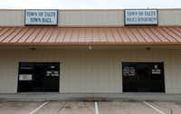 Talty's Town Hall and Police Department are within the 5,500 acres in Kaufman County identified for possible annexation into the city of Mesquite. The Talty facilities are just north of Interstate 20 while most of its residents are in rural settings south of the freeway. (Jae S. Lee/Staff Photographer)