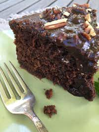 Chocolate Sheet Cake, made in the slow cooker using a recipe from <i>Texas Slow Cooker</i>.&nbsp;(Cheryl Alters Jamison)