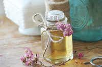 Rose water made from fresh roses from Clare Miers' garden(Clare Miers/Special Contributor)